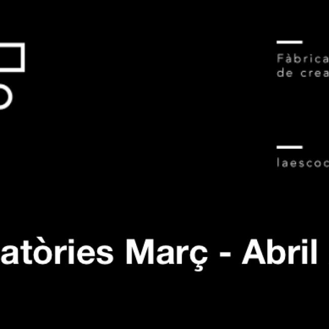 LA ESCOCESA | Convocatòries Març – Abril 2021